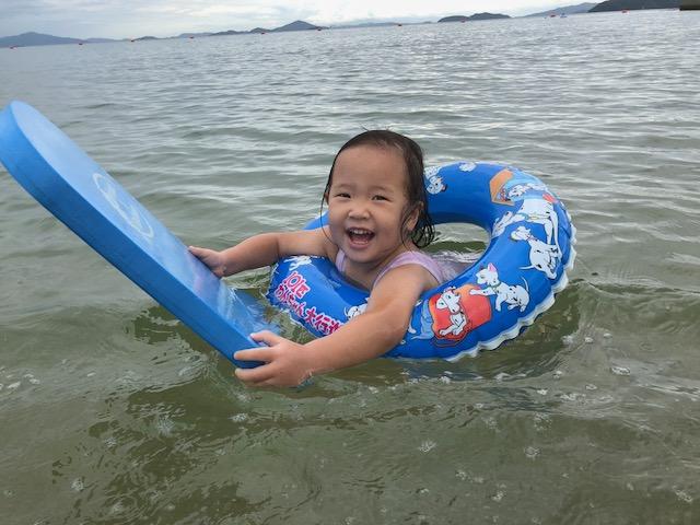 海水浴 3日連続
